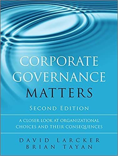 Corporate Governance Matters Cover