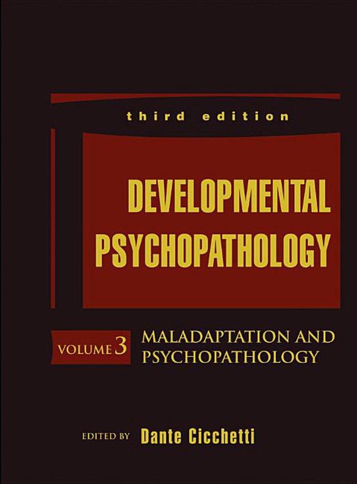 Developmental Psychopathology Cover