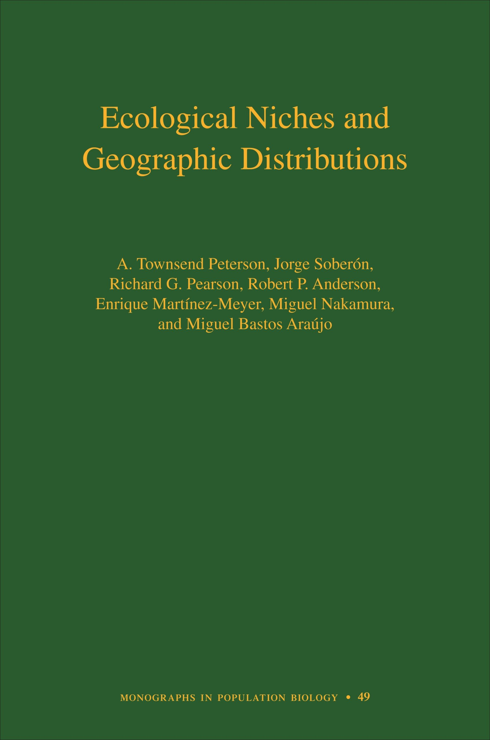 Ecological Niches and Geographic Distributions Cover