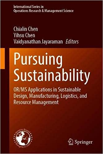 Pursuing Sustainability Cover