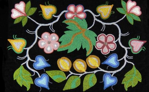 A mans beaded dance apron