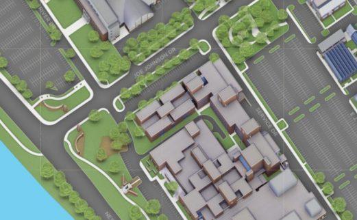 library overhead map illustration