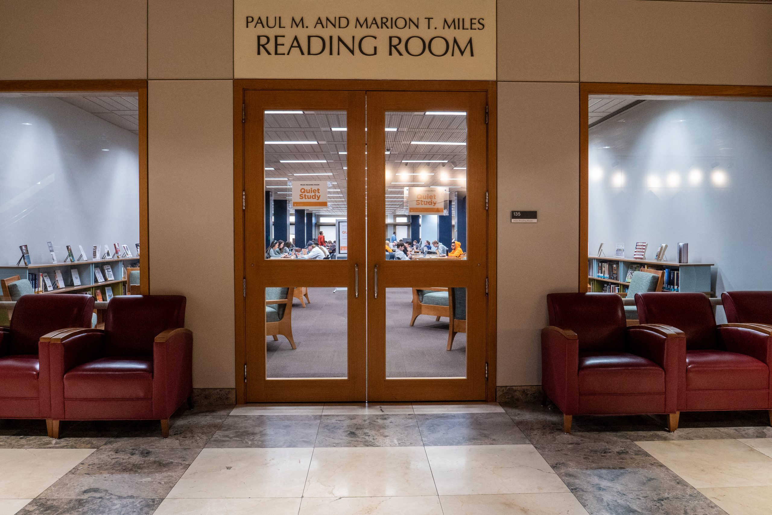 Paul M. and Marion T. Miles Reading Room at hodges library - university of tennessee