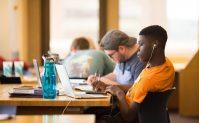 Students study for finals inside John C. Hodges Library on April 25, 2019. Photo by Steven Bridges