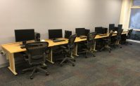 quiet computer lab at pendergrass library