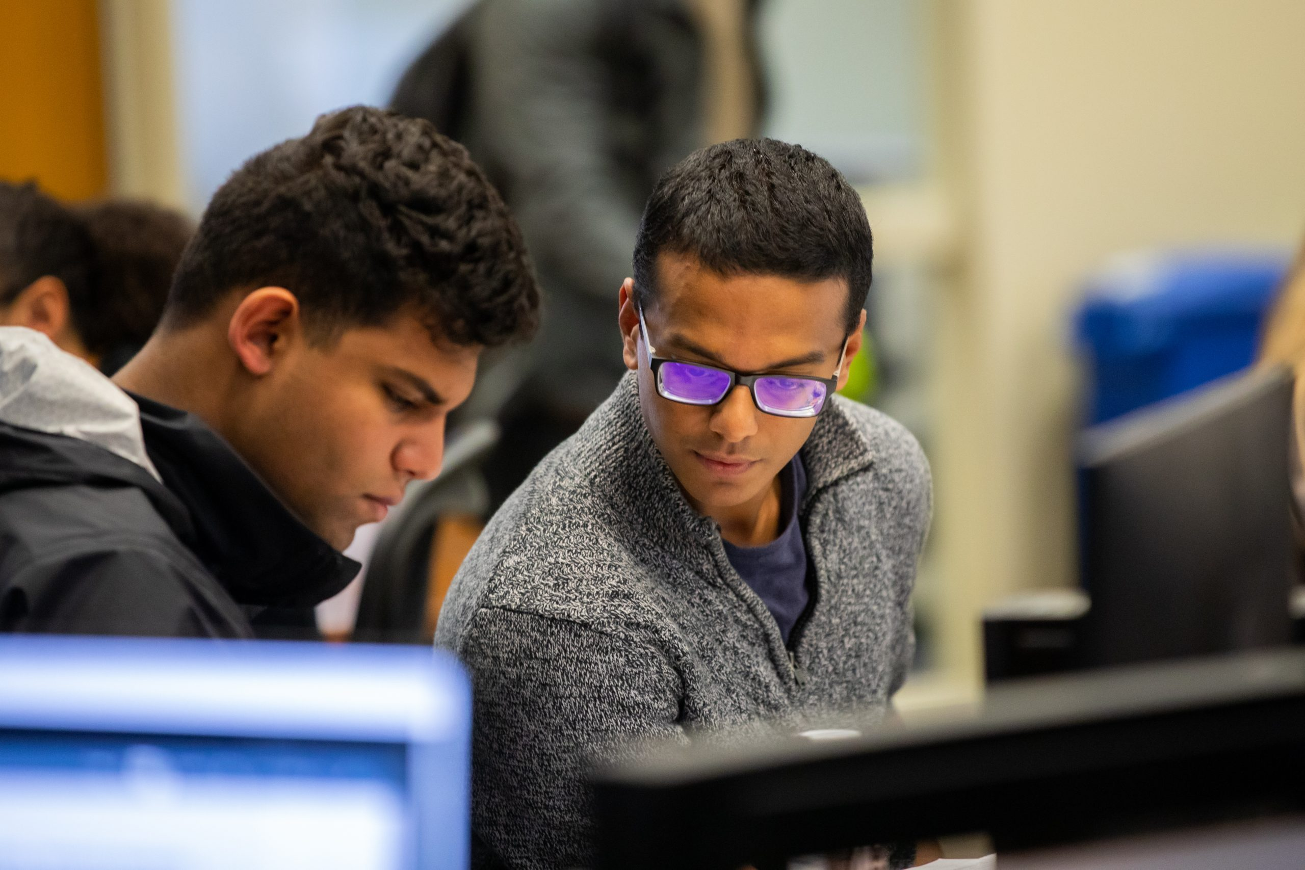 Students studying during finals inside Hodges Library on December 10, 2019. Photo by Steven Bridges/University of Tennessee