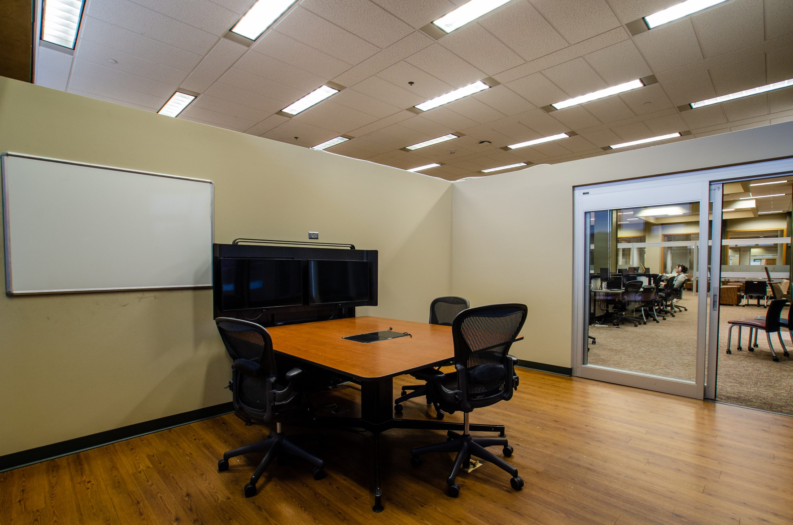 group study room in the commons of hodges library